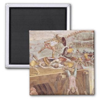 Horatius Cocles en el puente de Sublician Imán Cuadrado