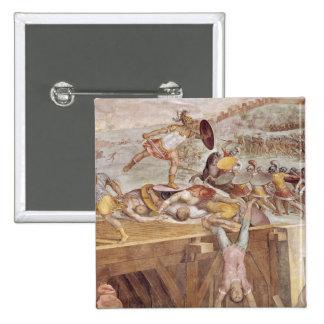 Horatius Cocles en el puente de Sublician Pin Cuadrada 5 Cm