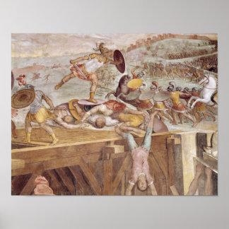 Horatius Cocles en el puente de Sublician Póster