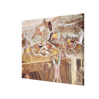 Horatius Cocles on the Sublician Bridge Gallery Wrapped Canvas