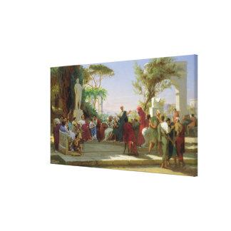 Horatius que lee sus sátiras a Maecenas, 1863 Impresiones De Lienzo