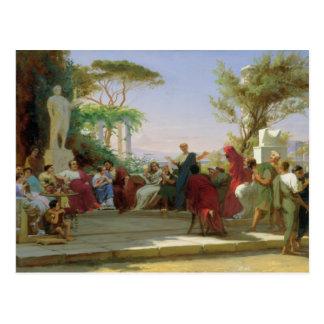 Horatius que lee sus sátiras a Maecenas, 1863 Postales