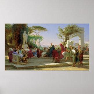 Horatius que lee sus sátiras a Maecenas, 1863 Póster