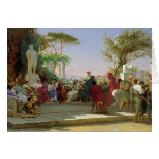 Horatius que lee sus sátiras a Maecenas, 1863 Tarjeta De Felicitación