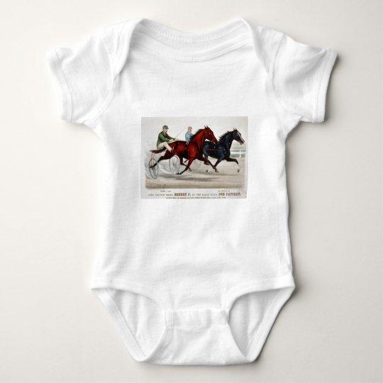 horce racing chariout baby bodysuit