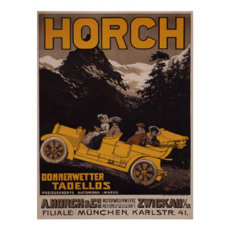HORCH Automobile Advertising Poster