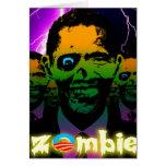 Horda asustadiza del zombi de Obama del relámpago Tarjetón