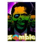 Horda asustadiza del zombi de Obama del relámpago Tarjeton