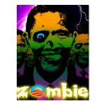Horda asustadiza del zombi de Obama del relámpago Tarjetas Postales
