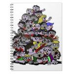 Horda del zombi libro de apuntes con espiral