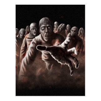 Horda del zombi tarjeta postal