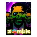 Horda extraña de Obama del zombi de la iluminación Postales