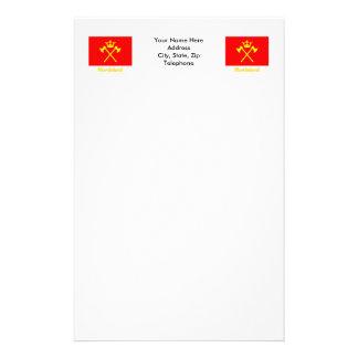 Hordaland flag with name stationery