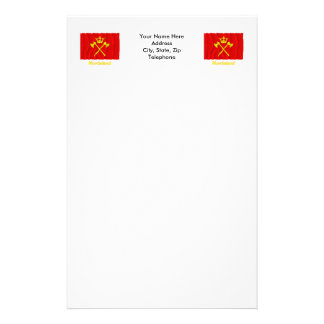 Hordaland waving flag with name stationery