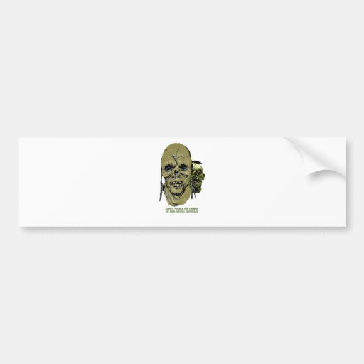Hordas 2 que vienen del zombi pegatina de parachoque