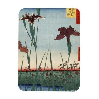 Horikiri Iris Garden (堀切の花菖蒲) Rectangular Photo Magnet
