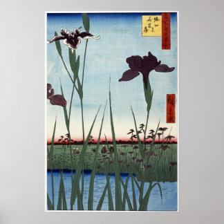 Horikiri Iris Garden 1857 Japanese woodblock print