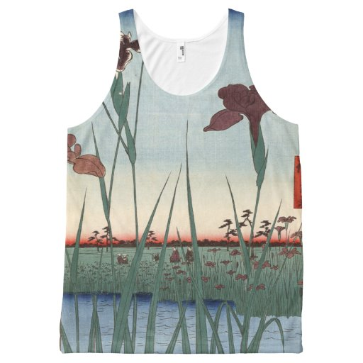 Horikiri Iris Garden All-Over Print Tank Top Tank Tops, Tanktops Shirts