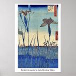 Horikiri iris garden by Ando, Hiroshige Ukiyoe Poster