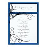 "Horizon Blue Floral Wedding Invitations 5"" X 7"" Invitation Card"