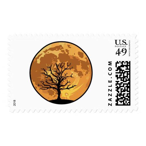 Horizon Moon Postage Stamp