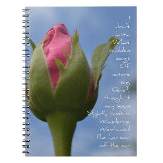 Horizon Poem Rose Notebook