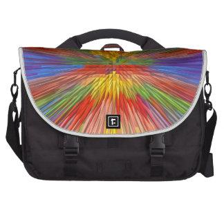 HORIZON Rainbow Colorful Stripe Romantic Gifts fun Laptop Bag