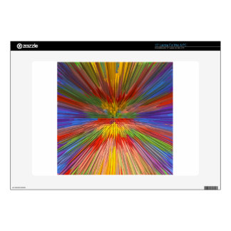 "HORIZON Rainbow Colorful Stripe Romantic Gifts fun Decal For 15"" Laptop"