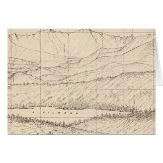 Horizon sketch from Tallac Peak, Cal Card