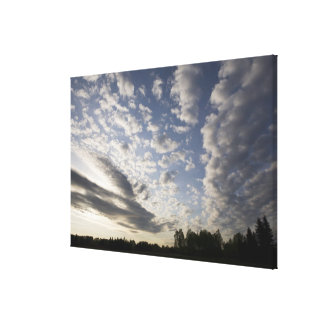 Horizon Sky View with Clouds Canvas Print