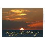 Horizon Sunset Birthday Card (Blank Inside)