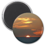Horizon Sunset Colorful Seascape Photography 2 Inch Round Magnet