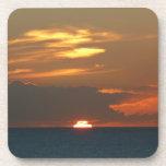 Horizon Sunset Colorful Seascape Photography Beverage Coaster