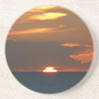 Horizon Sunset Colorful Seascape Photography Drink Coaster