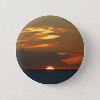 Horizon Sunset Colorful Seascape Photography Pinback Button