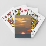 Horizon Sunset Colorful Seascape Photography Playing Cards
