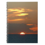 Horizon Sunset Colorful Seascape Photography Spiral Notebook