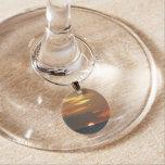 Horizon Sunset Colorful Seascape Photography Wine Charm