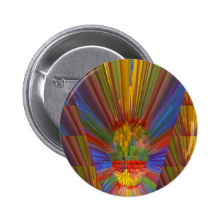 Horizon Sunset Golden Sparkles DIY Gifts COLORFUL Pinback Button