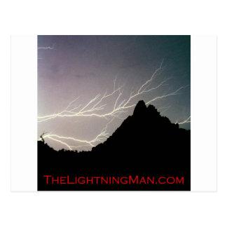 Horizonal Lightning man Poster Postcard