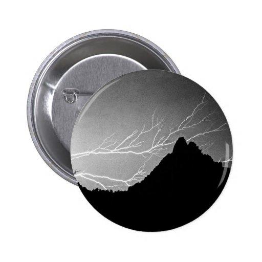 Horizonal Lightning Storm BW Button