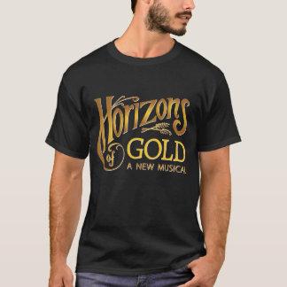 Horizons of Gold black men's t-shirt
