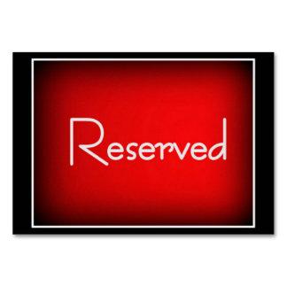 "Horizontal 3.5"" x 5"" Tablecard Reserved , Basic Card"
