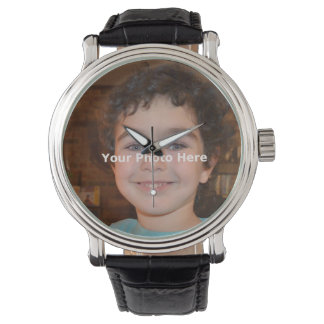 Horizontal 4 inch x 6 inch  - Your Photo Wrist Watch