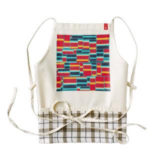 Horizontal and vertical stripes zazzle HEART apron