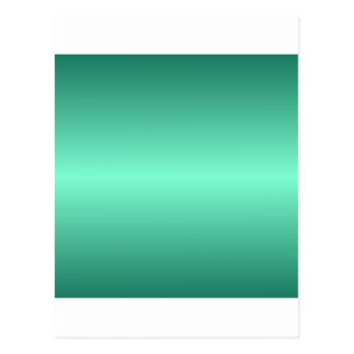 Horizontal Aquamarine and Castleton Green Gradient Postcard