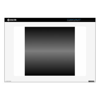 "Horizontal Black and Gray Gradient 15"" Laptop Skin"