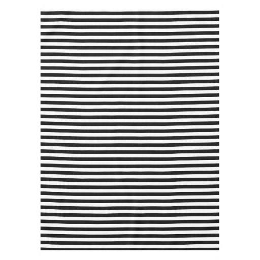 Horizontal Black And White Stripe Pattern Tablecloth Zazzle