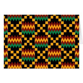Horizontal Black, Green, Red, Yellow Kente Cloth Card