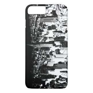 Horizontal Black White New York iPhone 7 Plus Case